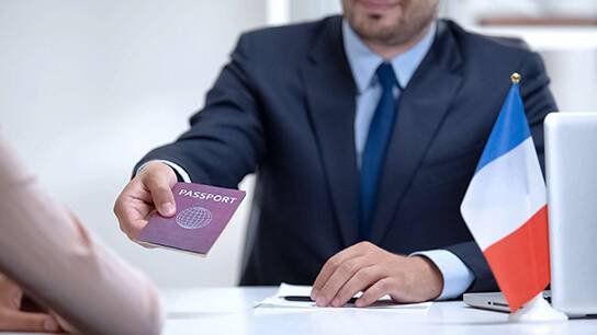 Délivrance d'un visa pour la France