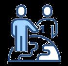 icône d'obtention du visa pour embaucher un salarié étranger